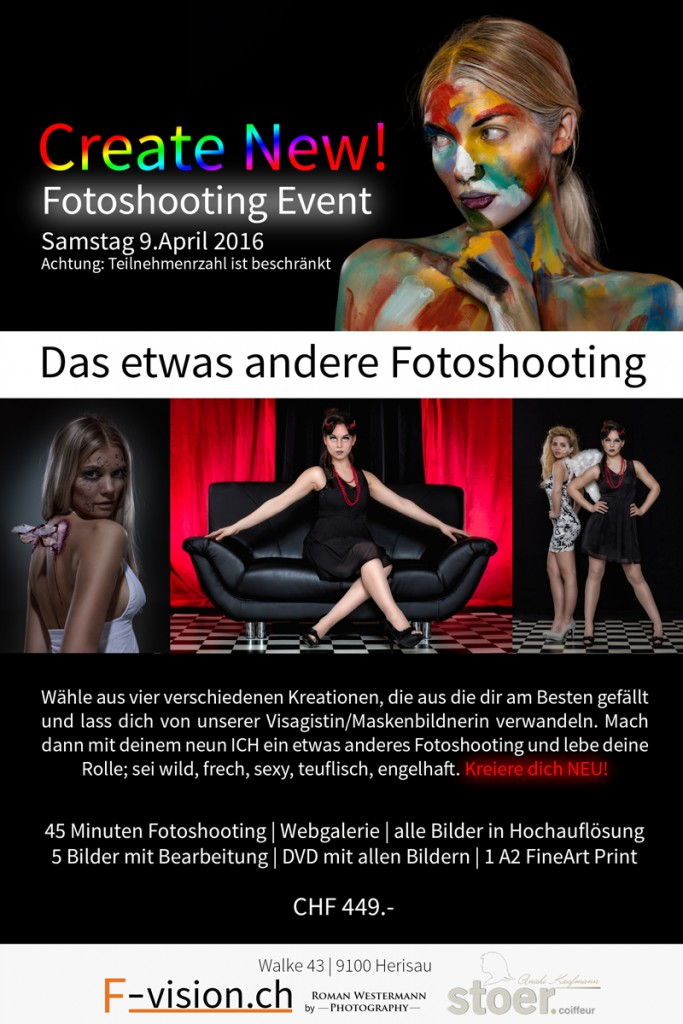 Fotoshooting Day Create New